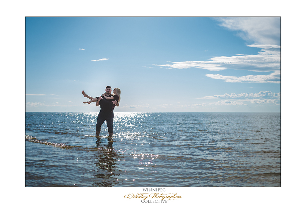 Grand Beach engagement photos