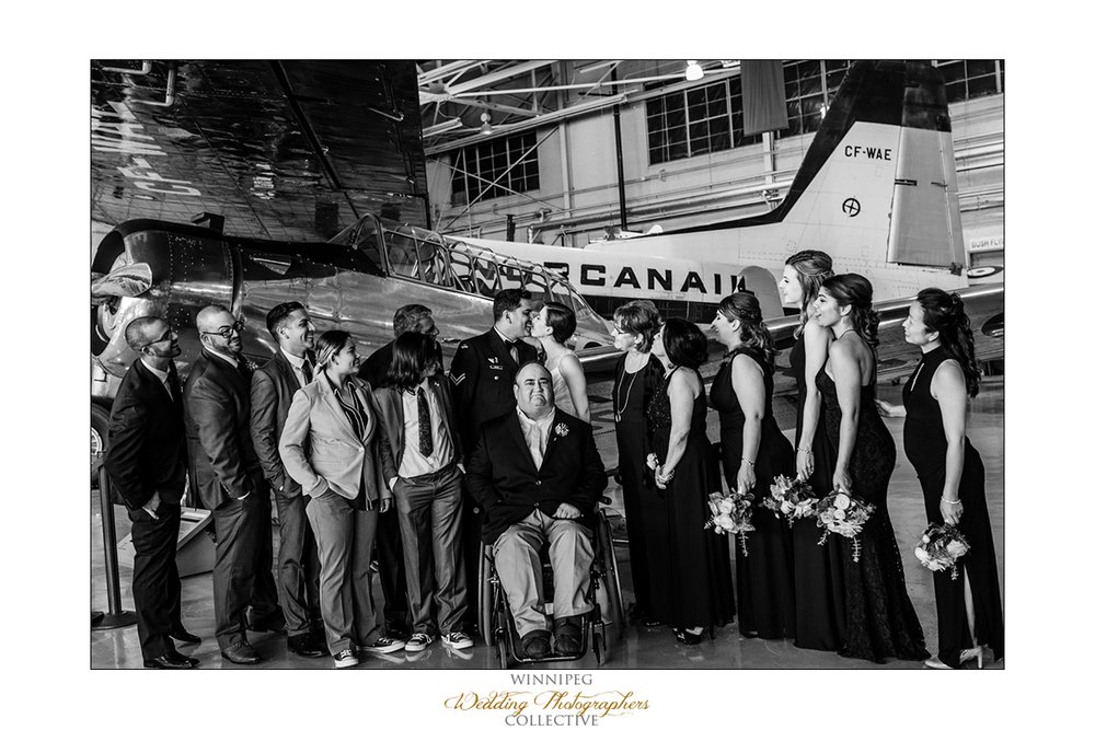 Winnipeg Military Base Wedding Photo
