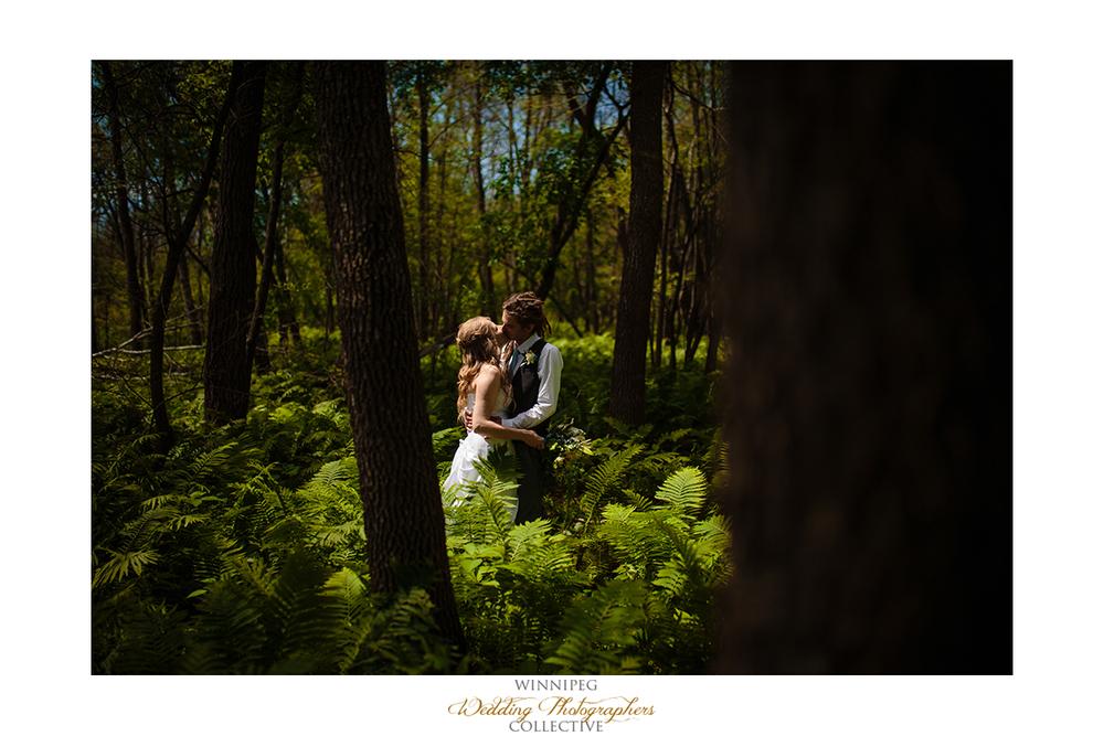 14 Bride and Groom Outdoor Portrait Fern Forest Selkirk Manitoba Canada.jpg