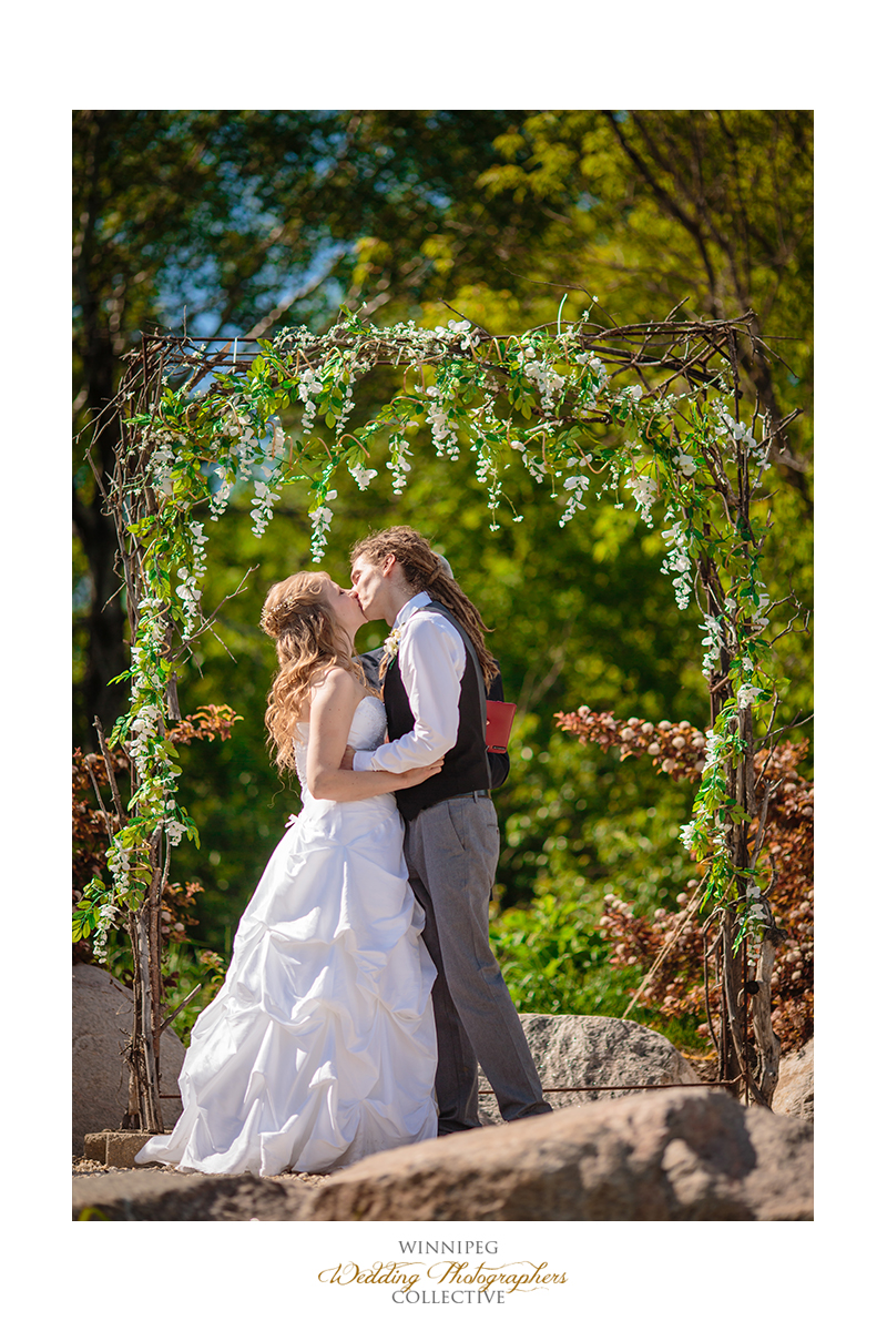 21 First Kiss and Husband and Wife Outdoor Wedding Hawthorn Estates.jpg