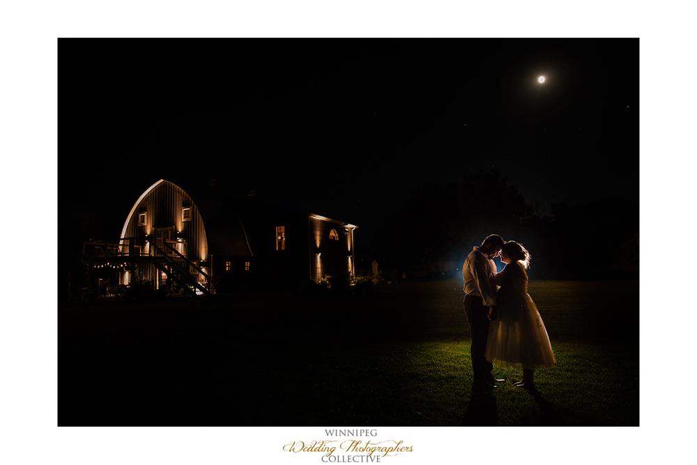 32 Night Portrait Outdoor Country Wedding Winnipeg MAnitoba Canada SElkirk Night Dark Off Camera Flash.jpg
