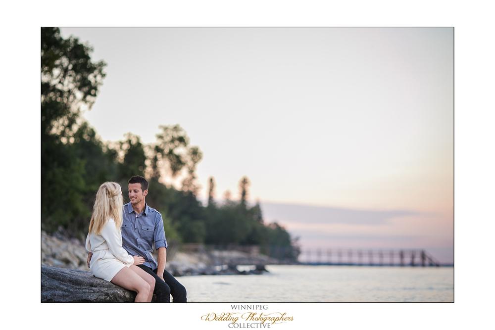 Manitoba lake engagement photos