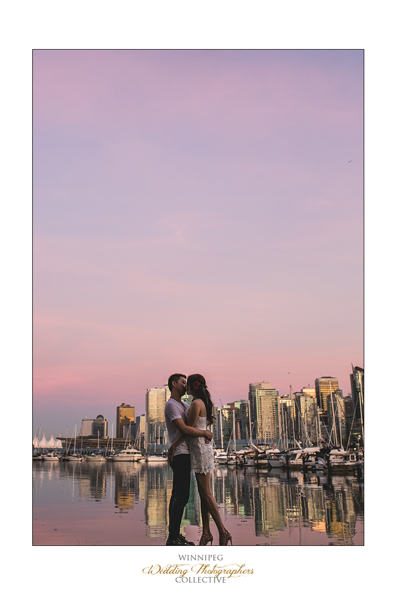 Vancouver waterfront engagement photos
