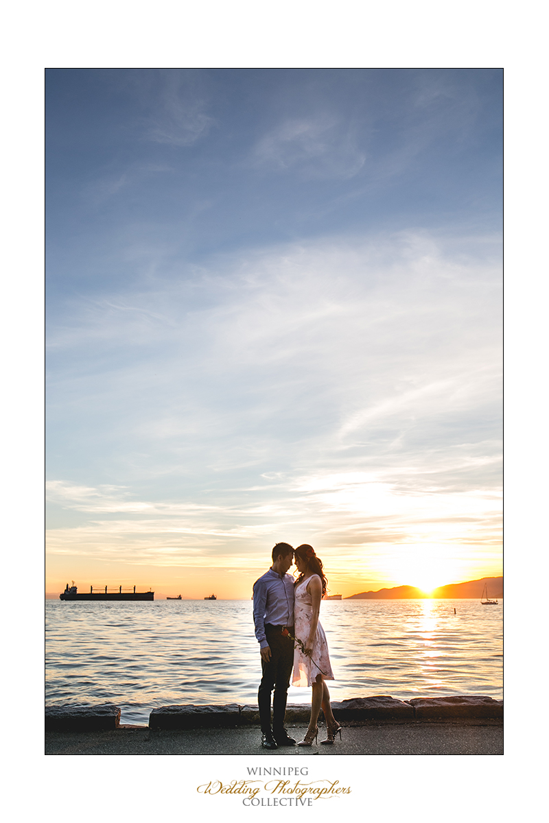 Vancouver waterfront engagement photographer
