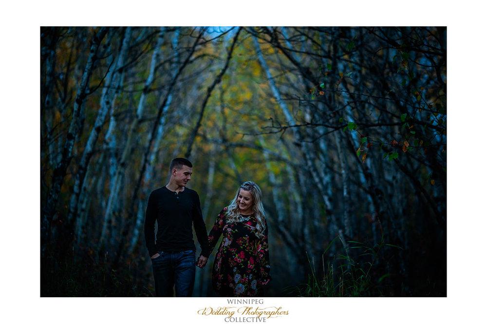 Engagement photos Assiniboine Forest