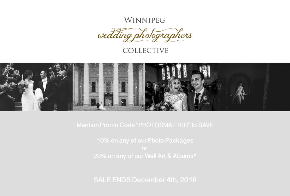 Winnipeg Wedding Photographers Cyber Monday Sale