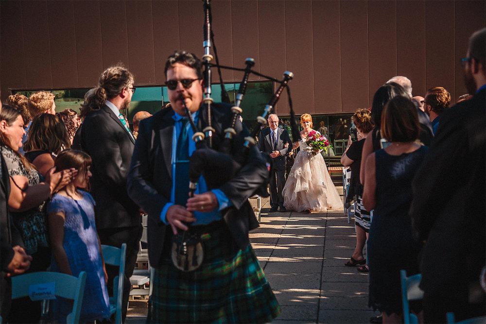 WAG wedding rooftop ceremony