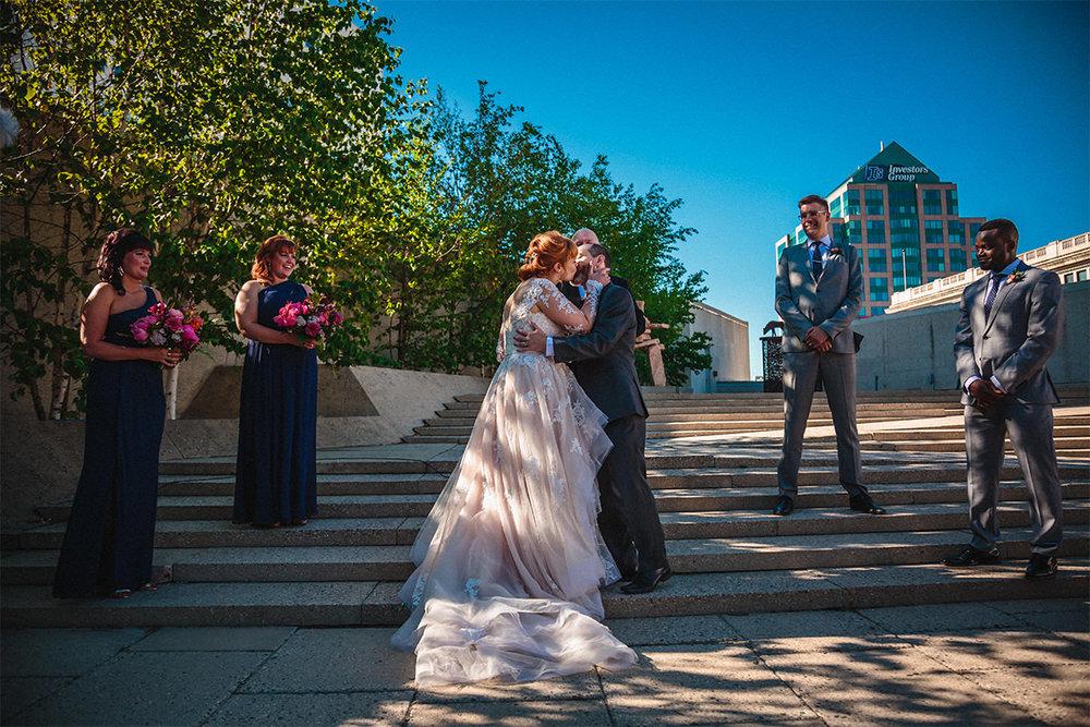 Winnipeg art gallery wedding photographer