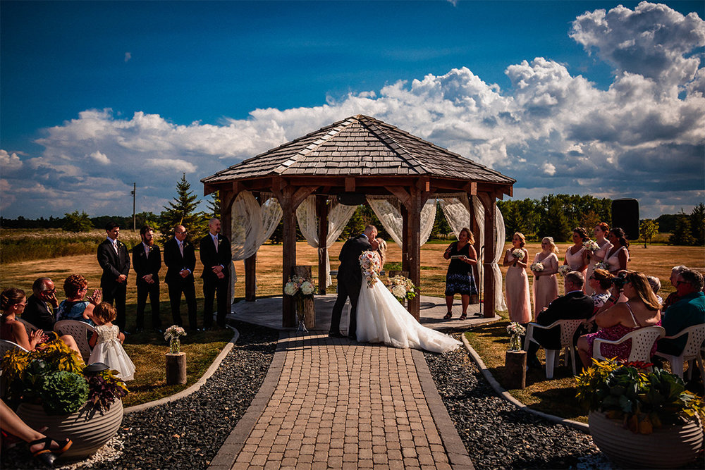 Outdoor ceremony Rustic Wedding Barn