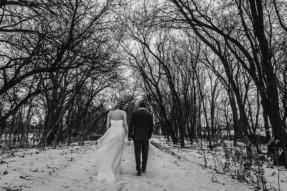 Fort Gibraltar Winter Wedding Photographer