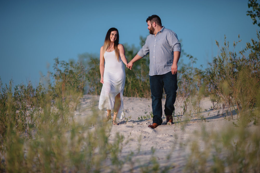 Grand Beach Manitoba Engagement Photo