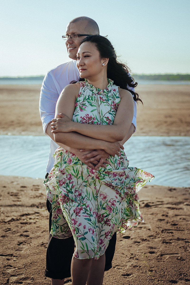 Victoria Beach Engagement Photographer