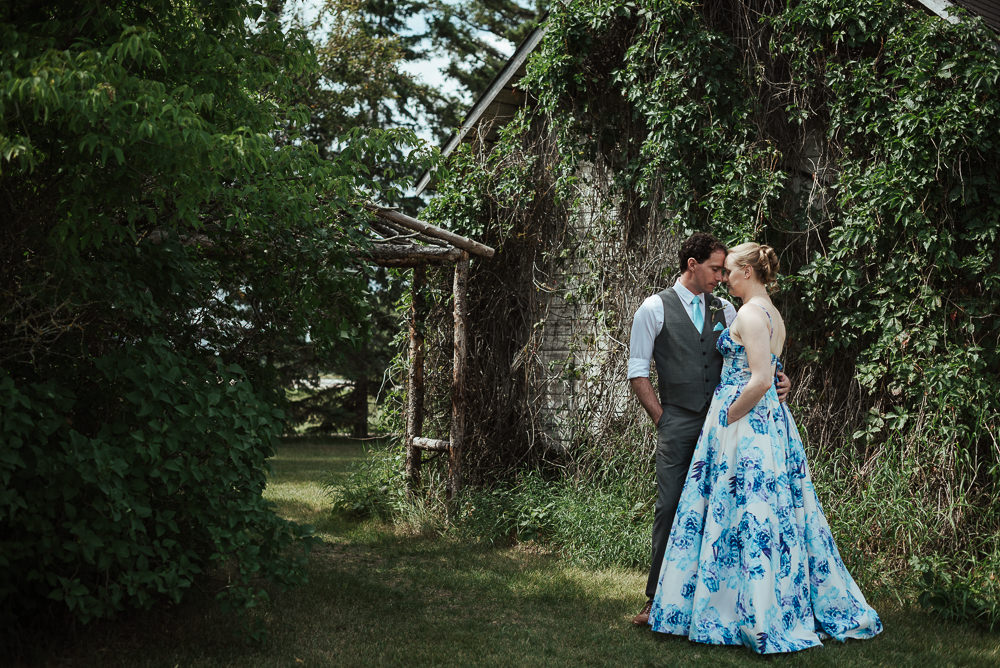 Intimate wedding at Cielo's Garden Manitoba