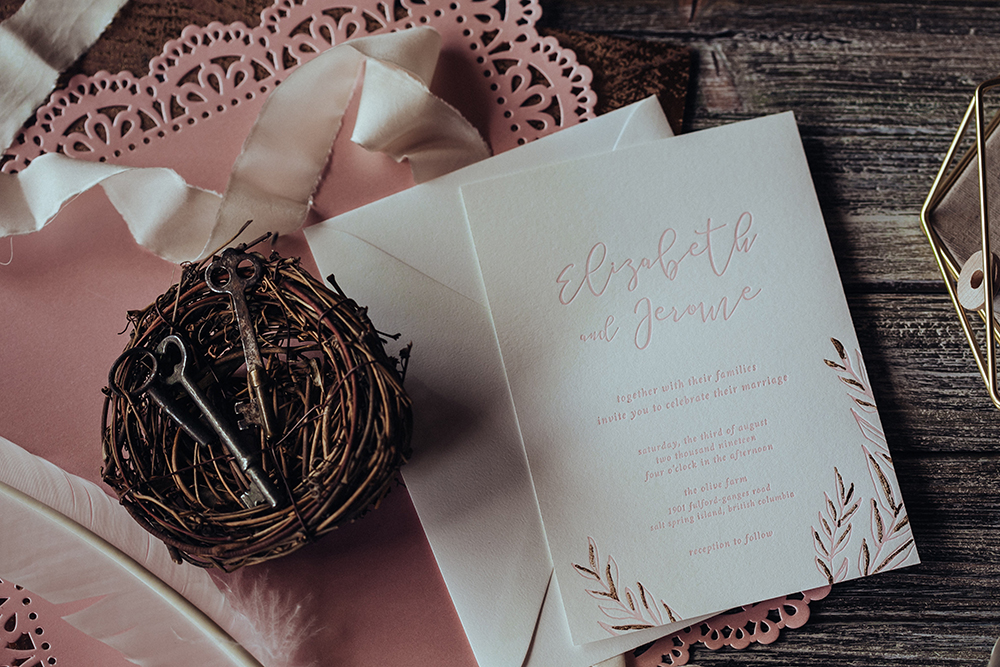 Lily Blossom Wedding Invites