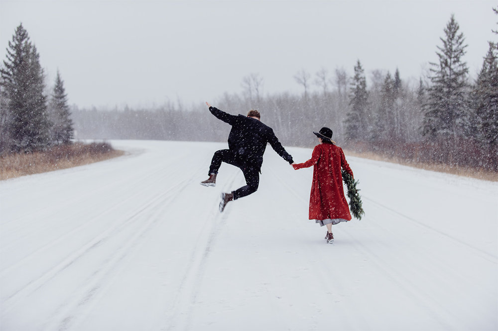 Winter Couple's Session  Photo by Jensen