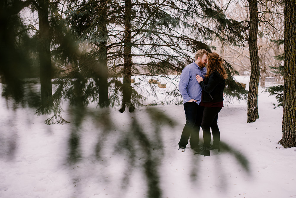 Backyard Skating Engagement Photos