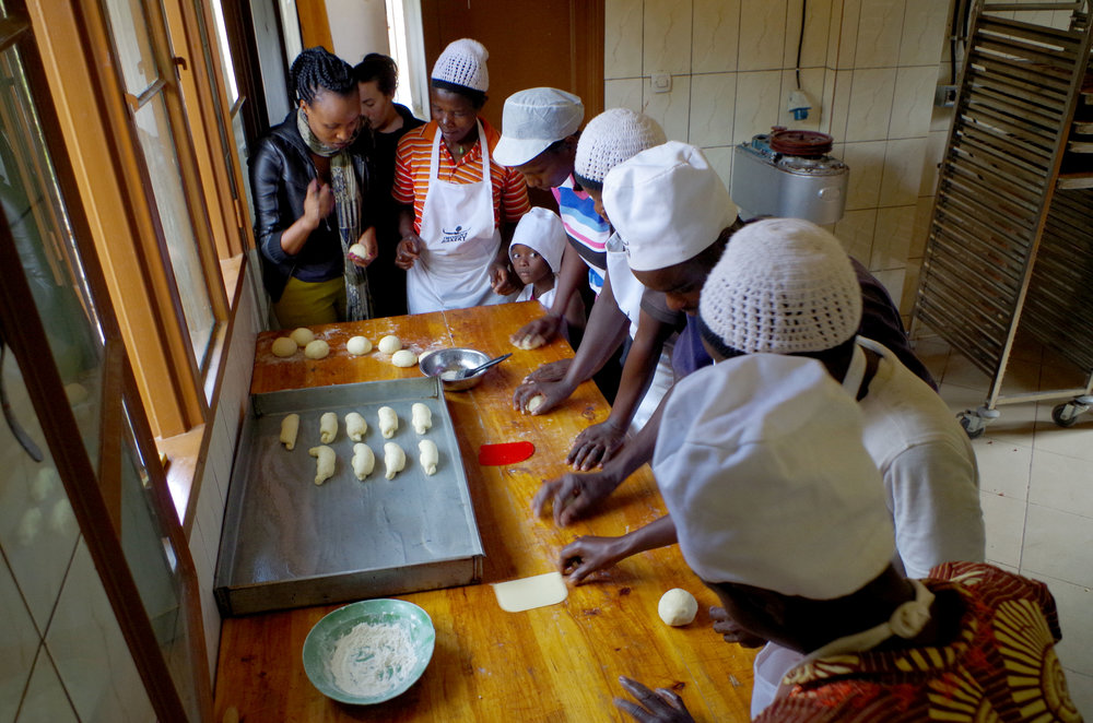 Women at our bakery in Bumba are a partner group.