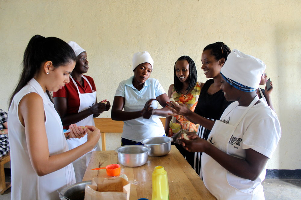 Summer 2016 - The two groups merge back together. A new bakery space secured and launched in June. Eight women are employed.