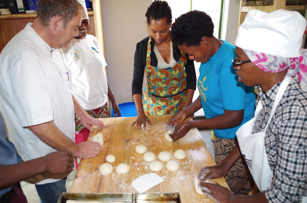 - In August, bakers receive extensive technique training from professional baker.