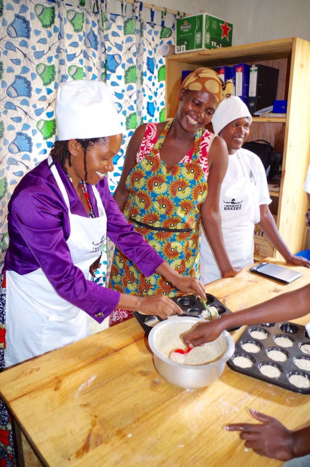 November 2016 - Bakers from Kigali begin training women in other communities, a practice that has become integral to our work.