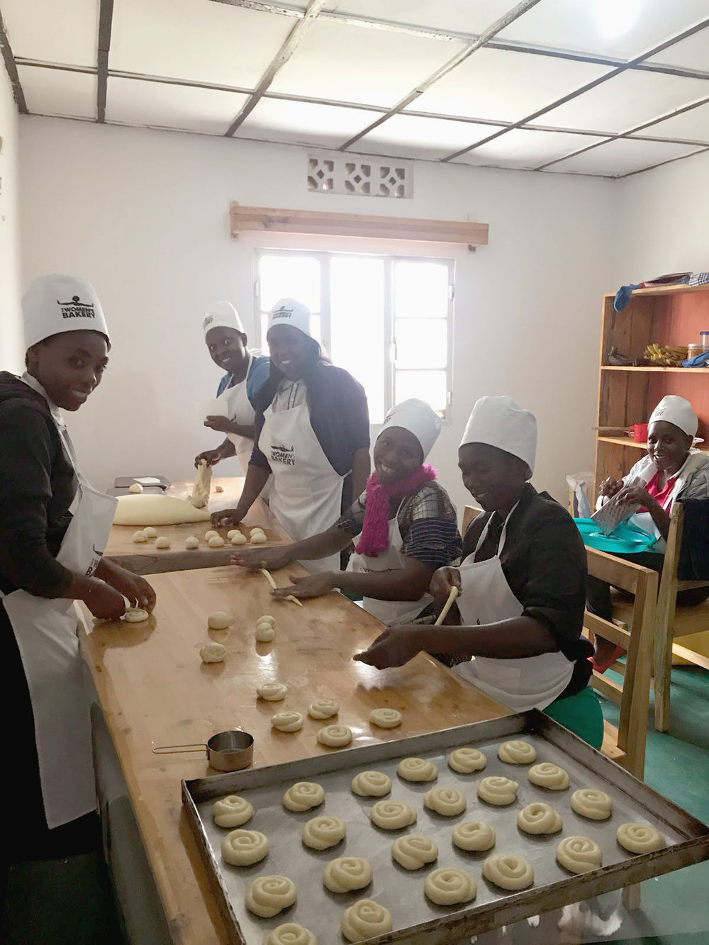 august 2018 - Not a minute went to waste—while baking, the the women studied and practiced alongside current bakers.