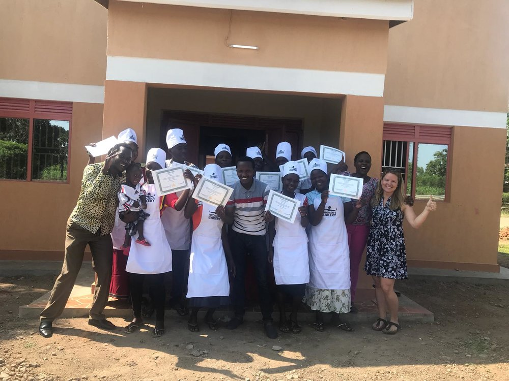 october 2018 - They did it! In early October, ten trainees graduated from the program. The bakery was officially launched in Namayemba, Uganda.
