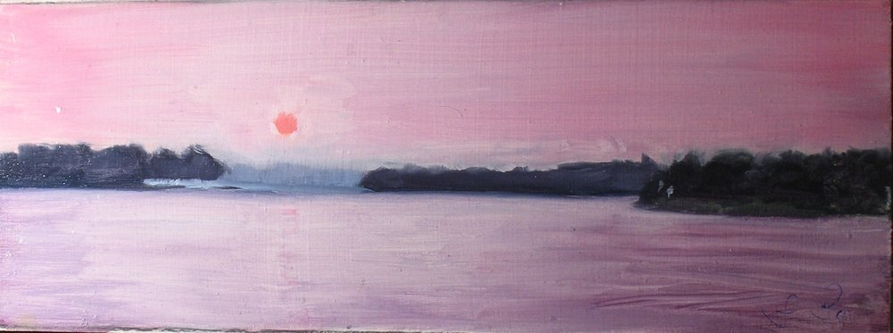 Sunset, Carlyle Lake; Louis Laudel