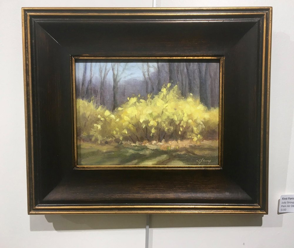 First Forsythias by Judy Stroup
