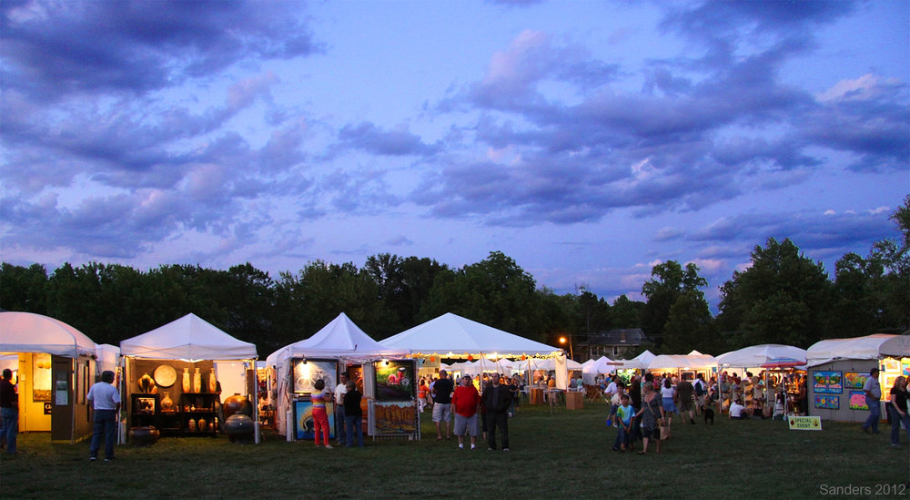 Webster Arts Fair 2016, at Dusk