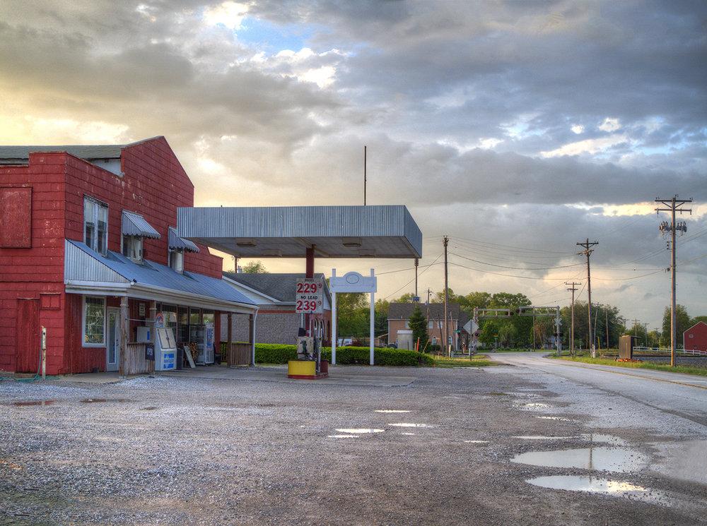 beth goyer, orchard farm gas station