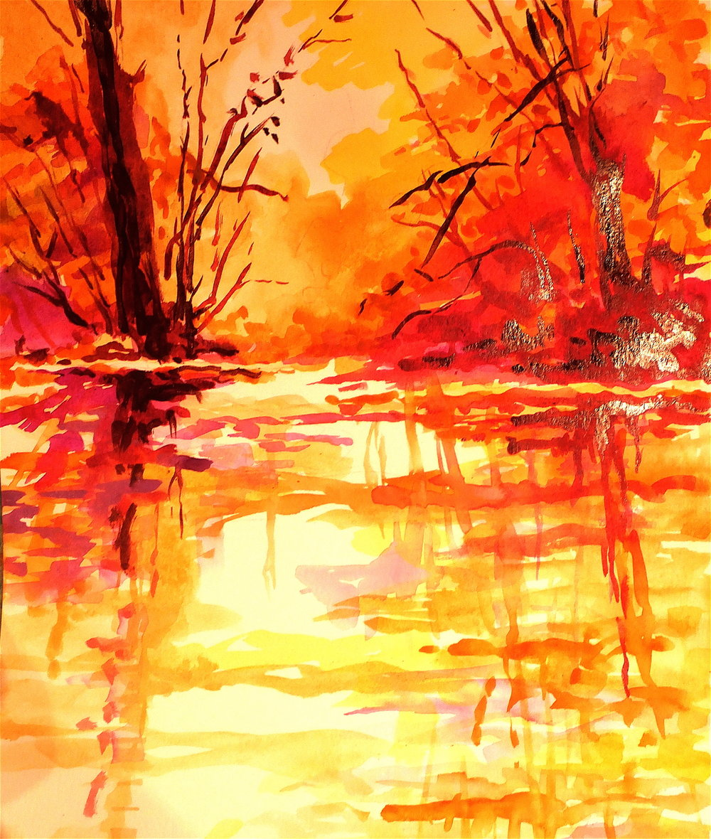 MARILYNNE Bradley, autumn reflection