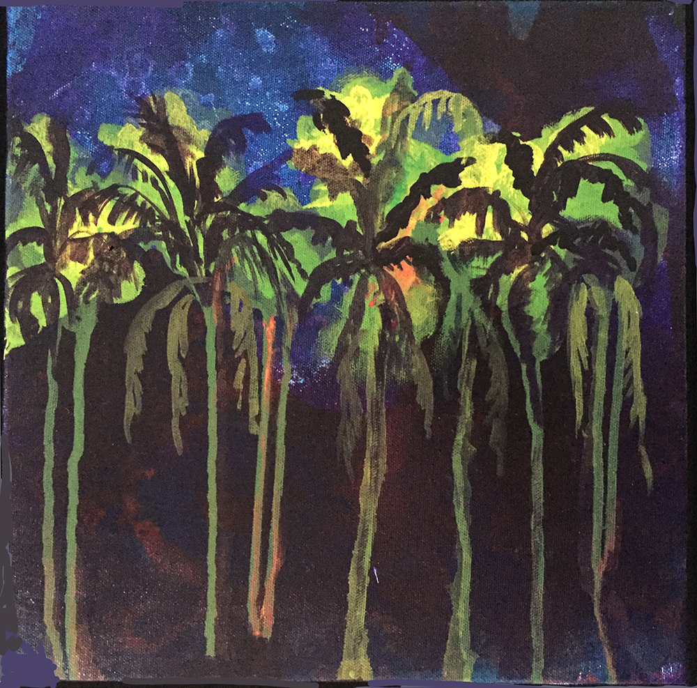 terry vermillion, night palms