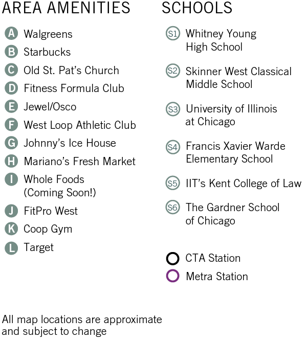 West Loop Chicago Neighborhood Area Amenities and Schools