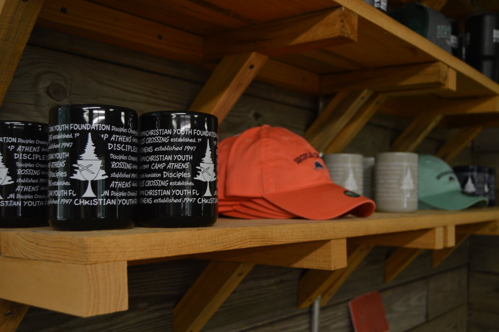 Large Coffee Mugs: $8  Mint/Coral Hats: $20