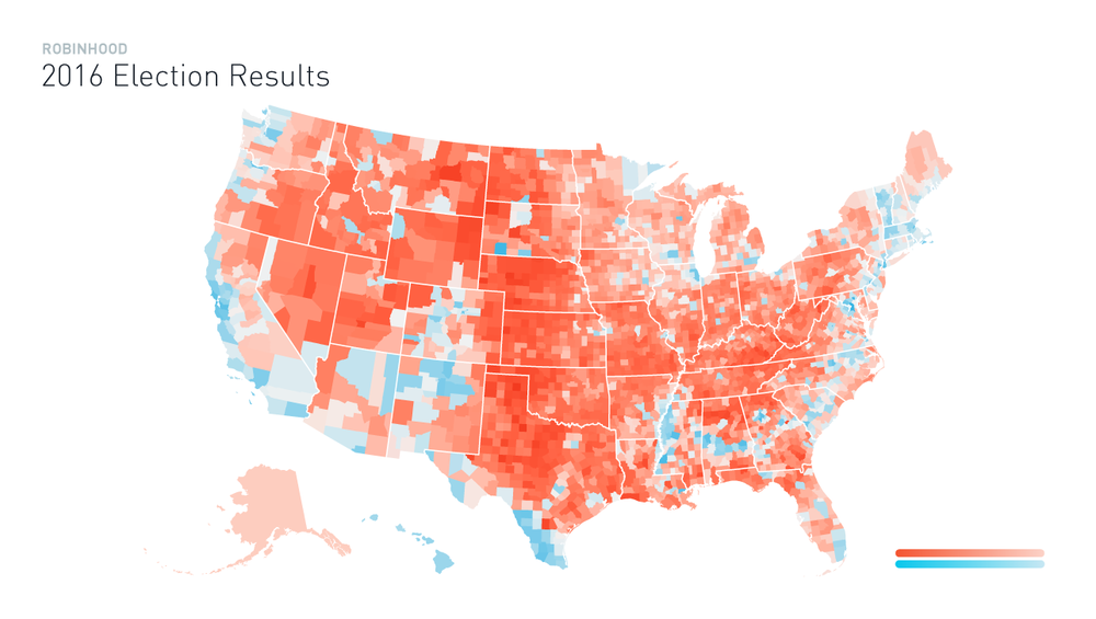Buy Gun Stocks Vote For Trump Under The Hood - Us-map-vote-2016