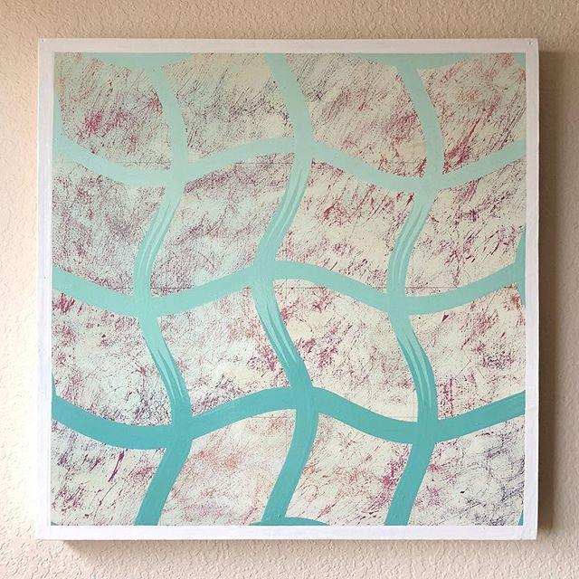 "Enamel on wood panel 24""x24"" . . . . . #color #texture #abstract #experiments #contemporaryart #art #enamel #woodpanel"