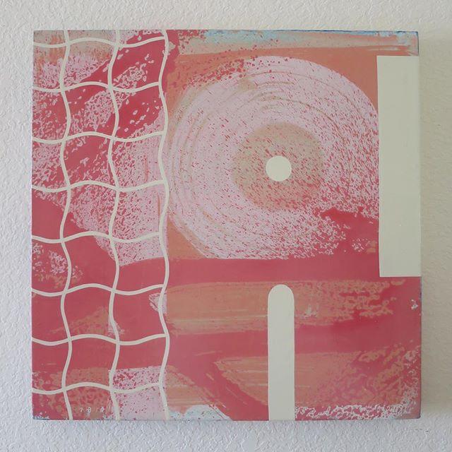 """Enamel on wood panel 24""""x24"""" . . . . . #abstract #composition #waveform #color #remix #deconstruct #echopark #losangeles #contemporaryart"""