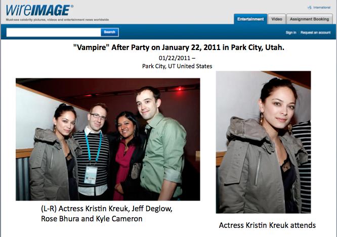 Sundance Film Fest after party, 2011