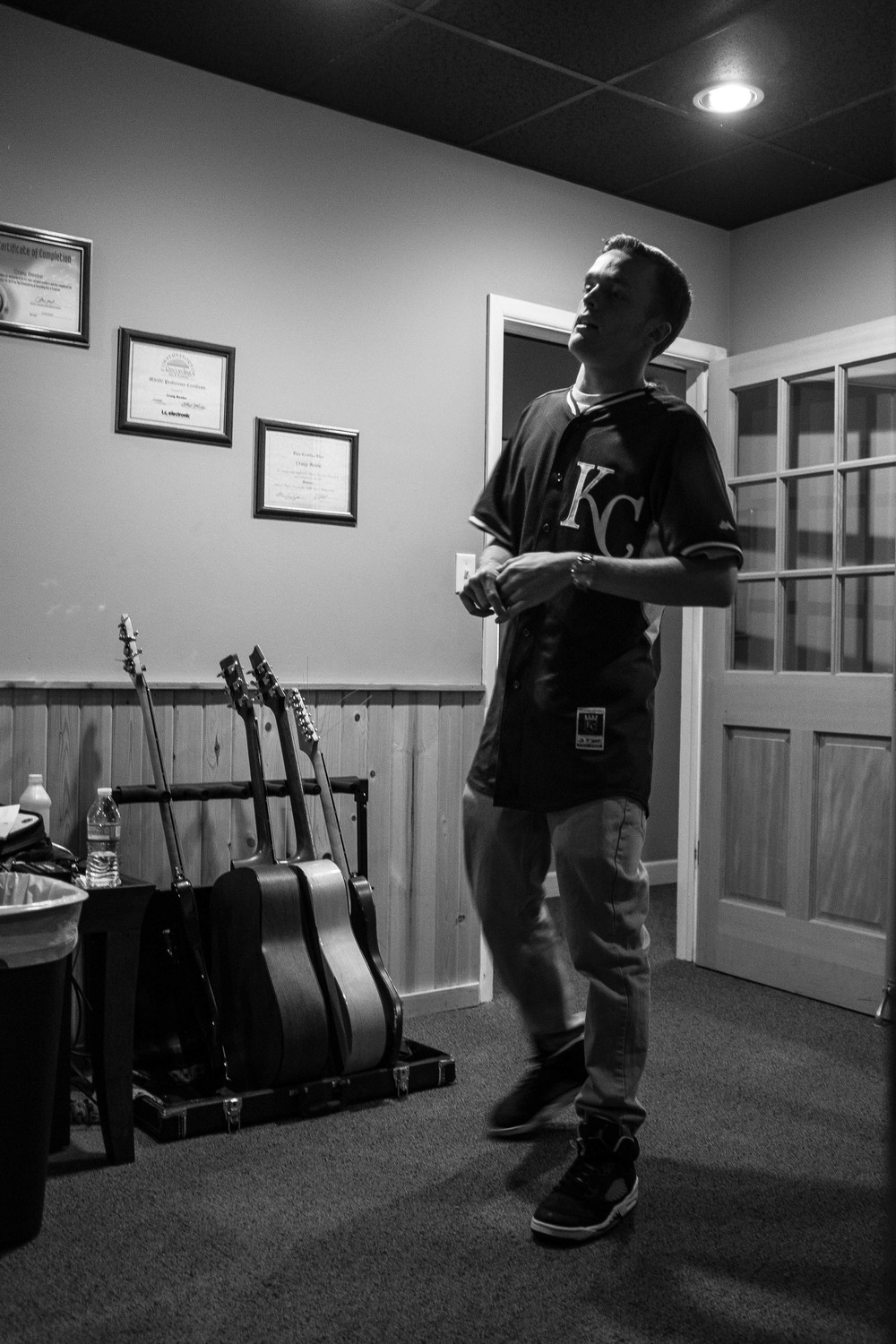 Lucid working out some of the lyrics for his verse.