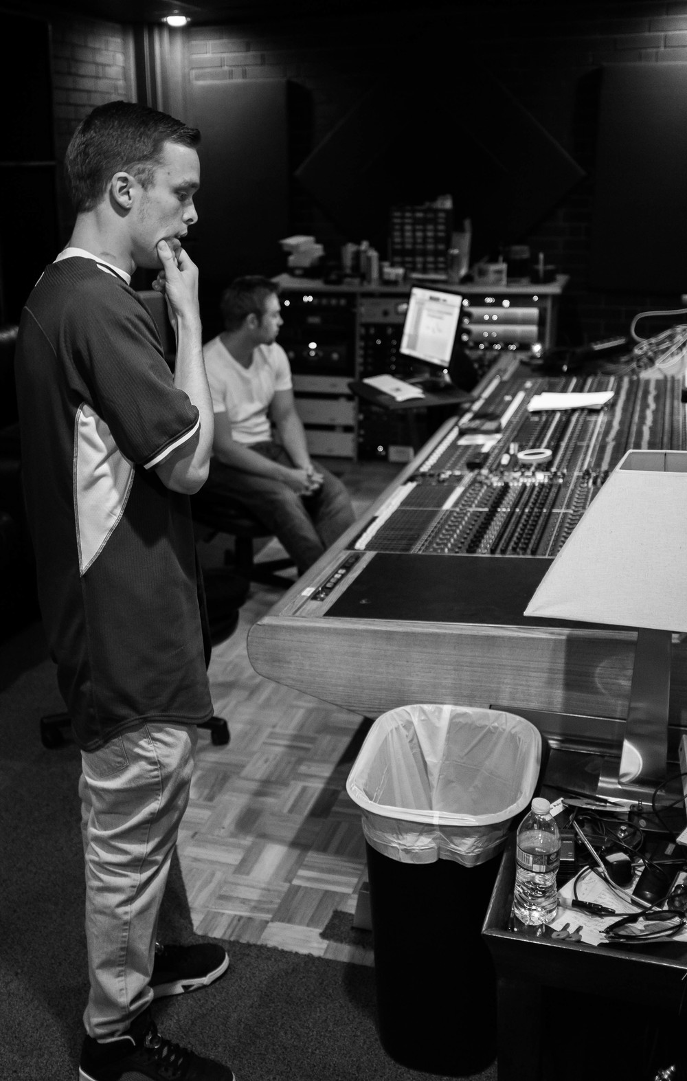 Lucid checking out one of the takes he had just done in the booth. One thing I will say about him, is he wants to always make sure his music is perfect. This was about the 5th or 6th take on an ad-lib he is listening to.