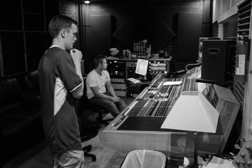 Checking the playback on the verse that was cut.