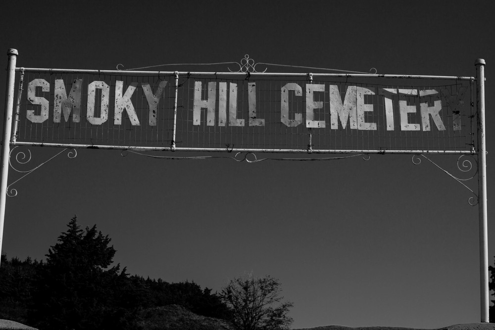 Smokey Hill Cemetery at the bottom of the hill where Coronado Heights is located.