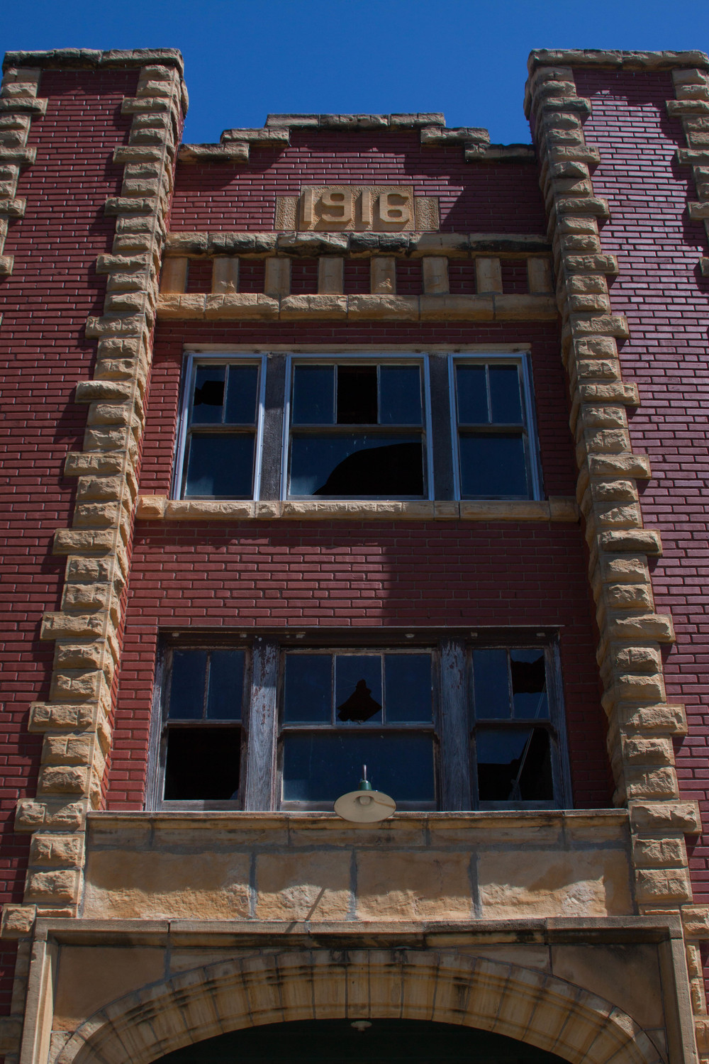 Another view of the old high school in Alexander, Kansas.