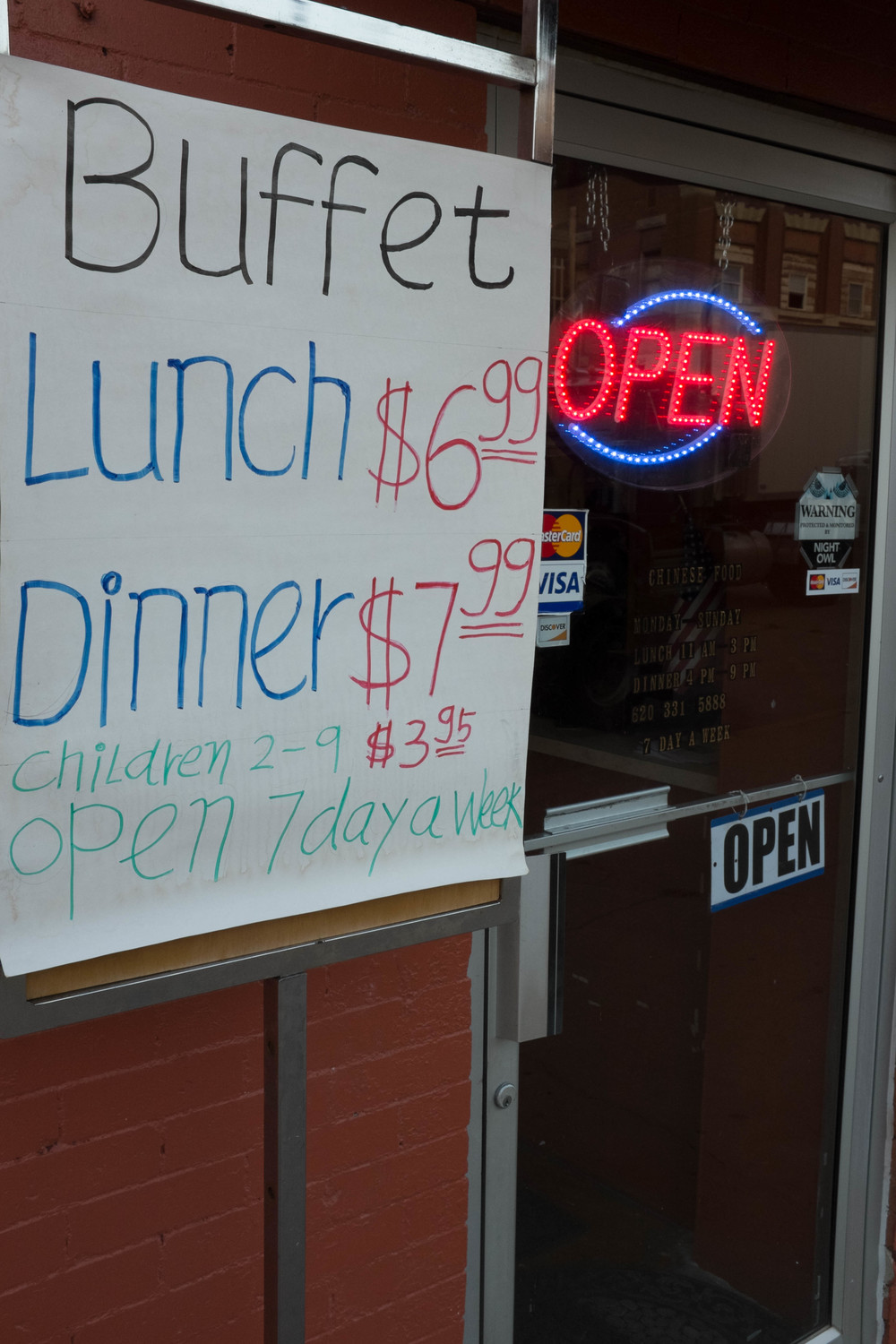 No matter how small the town, or how rural the place it is in... there is always a Chinese buffet for under 8 bucks.