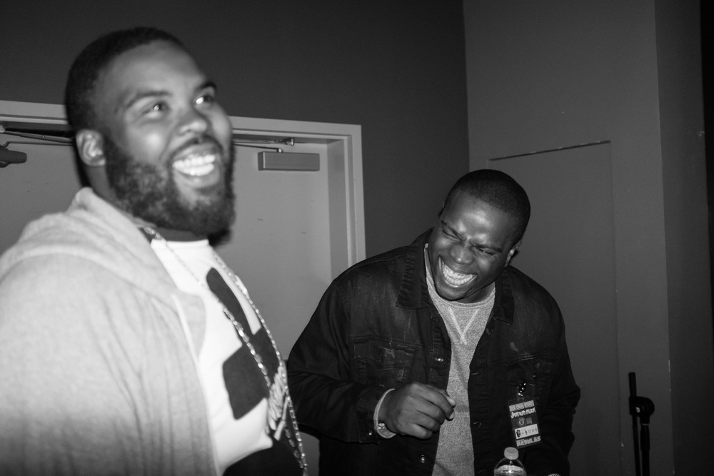 I caught a great moment with Bub Love and Nnanna backstage as we were waiting for Slick Rick to go on.