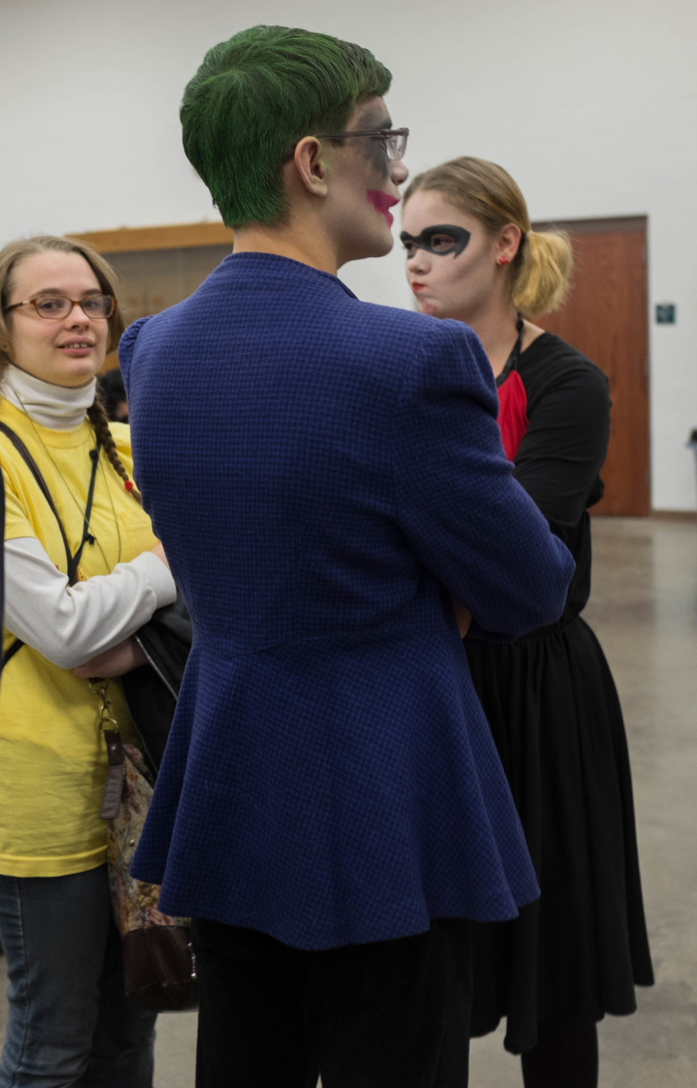 The Joker and Harley Quinn's friend saw me snapping a picture of them. It was all good though.