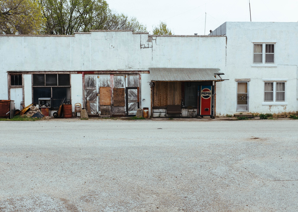 The only business in Cedar Point is a mechanic shop, and it doesn't look like it is open.