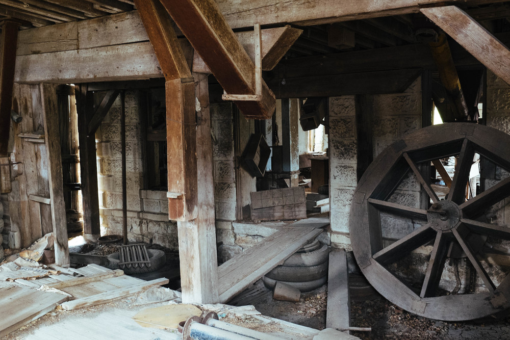 Inside the Schriver Flour Mill.