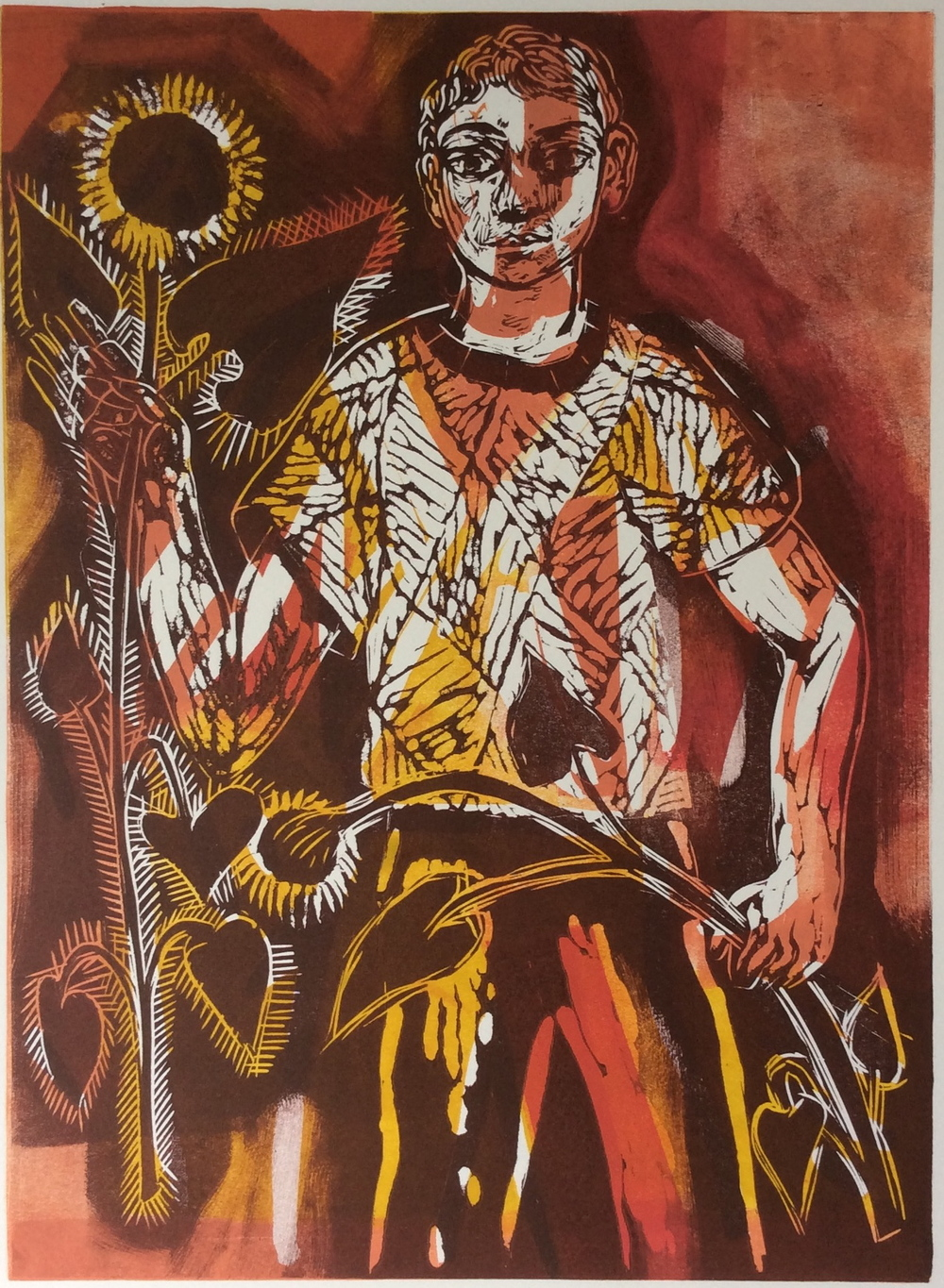 Summer Boy    Linocut, 2015, edition of 4   £195 unframed