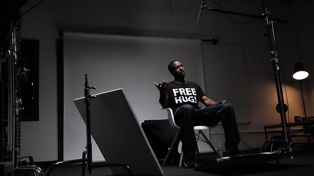 We're hanging with Ken Nwadike of the @freehugsproject.tv in our studio today.